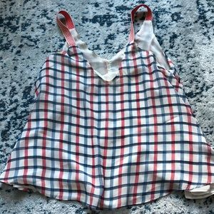 Umgee USA cute tank top blouse. Great for the 4th!